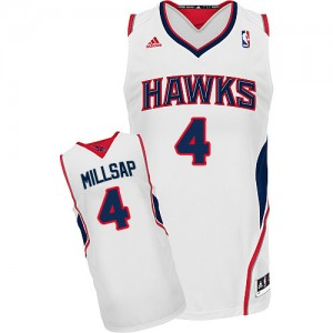 Maillot Swingman Atlanta Hawks NBA Home Blanc - #4 Paul Millsap - Homme