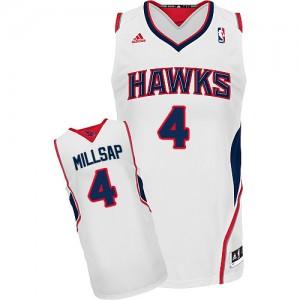 Maillot Swingman Atlanta Hawks NBA Home Blanc - #4 Paul Millsap - Homme