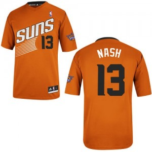 Phoenix Suns #13 Adidas Alternate Orange Authentic Maillot d'équipe de NBA Braderie - Steve Nash pour Homme