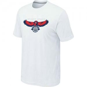 Atlanta Hawks Big & Tall Blanc T-Shirts d'équipe de NBA magasin d'usine - pour Homme
