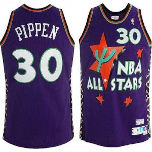 Maillot Adidas Violet Throwback 1995 All Star Authentic Chicago Bulls - Scottie Pippen #30 - Homme