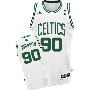 Maillot Adidas Blanc Home Swingman Boston Celtics - Amir Johnson #90 - Homme