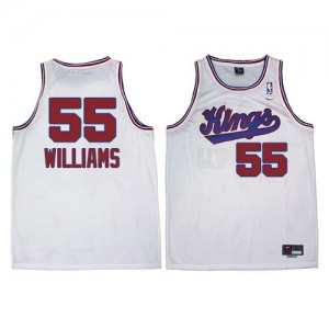 Maillot NBA Swingman Jason Williams #55 Sacramento Kings New Throwback Blanc - Homme