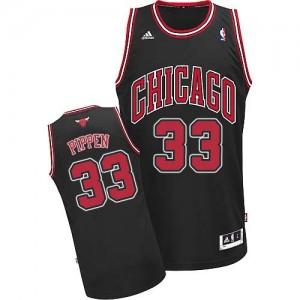 Chicago Bulls Scottie Pippen #33 Alternate Swingman Maillot d'équipe de NBA - Noir pour Homme