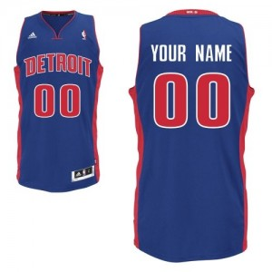 Maillot NBA Bleu royal Swingman Personnalisé Detroit Pistons Road Homme Adidas