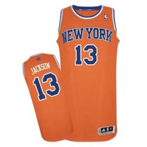 New York Knicks #13 Adidas Alternate Orange Authentic Maillot d'équipe de NBA Vente pas cher - Mark Jackson pour Homme