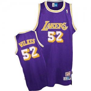Los Angeles Lakers #52 Adidas Throwback Violet Authentic Maillot d'équipe de NBA en vente en ligne - Jamaal Wilkes pour Homme