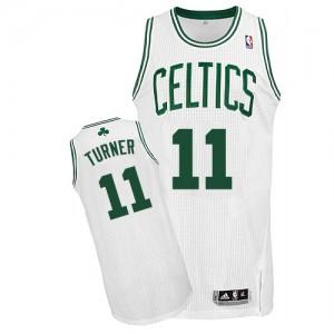 Boston Celtics Evan Turner #11 Home Authentic Maillot d'équipe de NBA - Blanc pour Homme