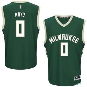 Maillot NBA Milwaukee Bucks #0 O.J. Mayo Vert Adidas Authentic Road - Homme