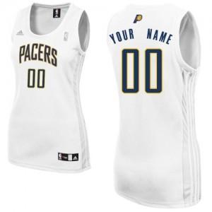 Indiana Pacers Personnalisé Adidas Home Blanc Maillot d'équipe de NBA en ligne pas chers - Swingman pour Femme