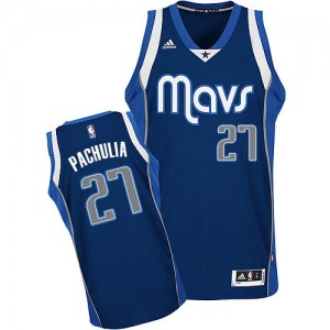 Dallas Mavericks Zaza Pachulia #27 Alternate Swingman Maillot d'équipe de NBA - Bleu marin pour Homme