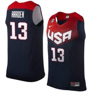 Maillots de basket Authentic Team USA NBA 2014 Dream Team Bleu marin - #13 James Harden - Homme
