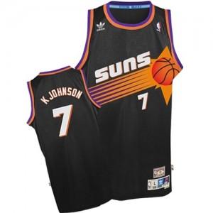 Maillot NBA Noir Kevin Johnson #7 Phoenix Suns Throwback Swingman Homme Adidas