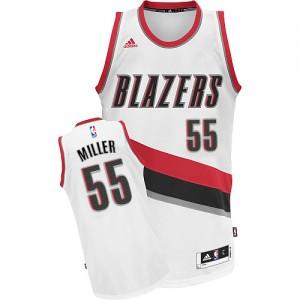 Portland Trail Blazers Mike Miller #55 Home Swingman Maillot d'équipe de NBA - Blanc pour Homme