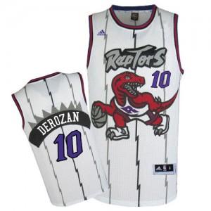 Maillot Adidas Blanc Throwback Swingman Toronto Raptors - DeMar DeRozan #10 - Homme