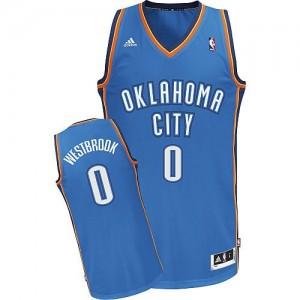 Maillot Adidas Bleu royal Road Swingman Oklahoma City Thunder - Russell Westbrook #0 - Enfants