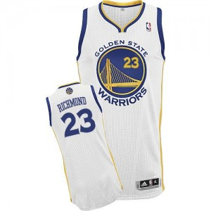 Maillot Adidas Blanc Home Authentic Golden State Warriors - Mitch Richmond #23 - Homme