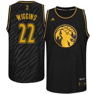 Minnesota Timberwolves #22 Adidas Precious Metals Fashion Noir Authentic Maillot d'équipe de NBA Magasin d'usine - Andrew Wiggins pour Homme