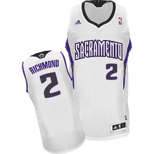 Maillot NBA Sacramento Kings #2 Mitch Richmond Blanc Adidas Swingman Home - Homme