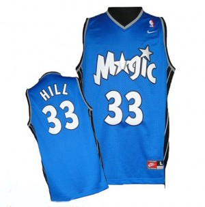 Maillot NBA Authentic Grant Hill #33 Orlando Magic Throwback Bleu royal - Homme
