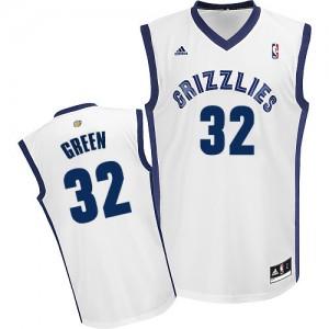 Memphis Grizzlies Jeff Green #32 Home Swingman Maillot d'équipe de NBA - Blanc pour Homme