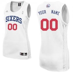 Maillot NBA Philadelphia 76ers Personnalisé Swingman Blanc Adidas Home - Femme