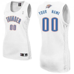 Maillot NBA Authentic Personnalisé Oklahoma City Thunder Home Blanc - Femme