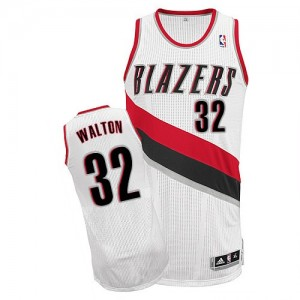 Maillot Authentic Portland Trail Blazers NBA Home Blanc - #32 Bill Walton - Homme