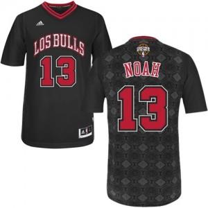 Maillot Authentic Chicago Bulls NBA New Latin Nights Noir - #13 Joakim Noah - Homme