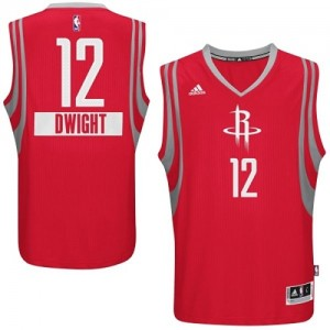 Maillot Adidas Rouge 2014-15 Christmas Day Authentic Houston Rockets - Dwight Howard #12 - Homme