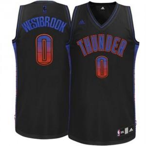 Maillot Swingman Oklahoma City Thunder NBA Vibe Noir - #0 Russell Westbrook - Homme
