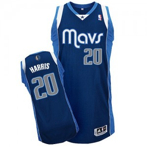 Maillot NBA Authentic Devin Harris #20 Dallas Mavericks Alternate Bleu marin - Homme