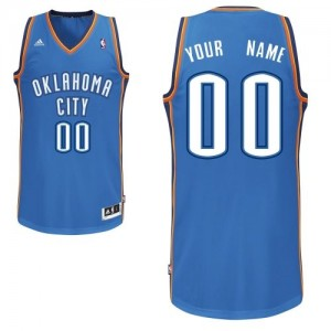 Maillot NBA Swingman Personnalisé Oklahoma City Thunder Road Bleu royal - Homme