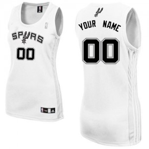 Maillot NBA Blanc Authentic Personnalisé San Antonio Spurs Home Femme Adidas
