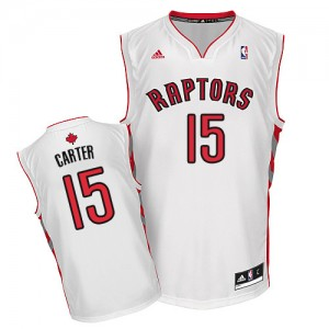 Maillot NBA Swingman Vince Carter #15 Toronto Raptors Home Blanc - Homme