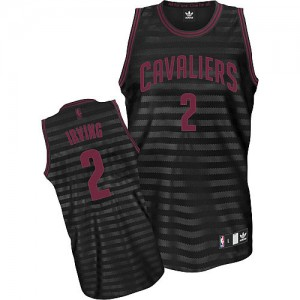 Maillot NBA Authentic Kyrie Irving #2 Cleveland Cavaliers Groove Gris noir - Homme