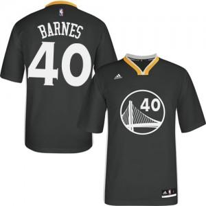 Maillot NBA Golden State Warriors #40 Harrison Barnes Noir Adidas Swingman Alternate - Homme