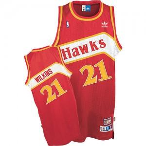 Atlanta Hawks #21 Adidas Throwback Rouge Swingman Maillot d'équipe de NBA en ligne - Dominique Wilkins pour Homme