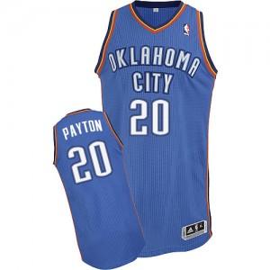 Oklahoma City Thunder Gary Payton #20 Road Authentic Maillot d'équipe de NBA - Bleu royal pour Homme