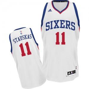 Maillot NBA Swingman Nik Stauskas #11 Philadelphia 76ers Home Blanc - Homme