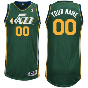 Maillot NBA Vert Authentic Personnalisé Utah Jazz Alternate Enfants Adidas