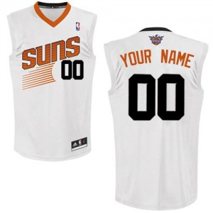 Maillot NBA Phoenix Suns Personnalisé Authentic Blanc Adidas Home - Enfants