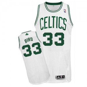 Maillot NBA Blanc Larry Bird #33 Boston Celtics Home Authentic Enfants Adidas