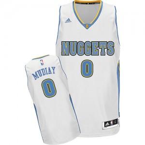 Maillot NBA Swingman Emmanuel Mudiay #0 Denver Nuggets Home Blanc - Homme