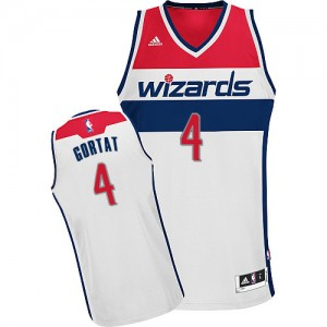 Maillot Swingman Washington Wizards NBA Home Blanc - #4 Marcin Gortat - Homme