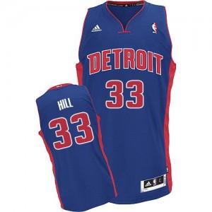 Detroit Pistons #33 Adidas Road Bleu royal Swingman Maillot d'équipe de NBA Remise - Grant Hill pour Homme