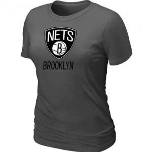 Brooklyn Nets Big & Tall Gris foncé T-Shirts d'équipe de NBA la meilleure qualité - pour Femme
