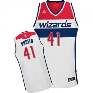 Washington Wizards Wes Unseld #41 Home Swingman Maillot d'équipe de NBA - Blanc pour Homme