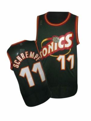Oklahoma City Thunder Detlef Schrempf #11 SuperSonics Throwback Swingman Maillot d'équipe de NBA - Vert pour Homme