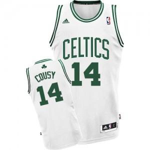 Maillot Adidas Blanc Home Swingman Boston Celtics - Bob Cousy #14 - Homme